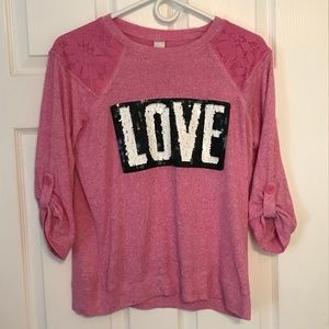 Girl's Total Girl LOVE Sweater